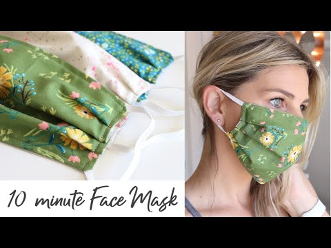 DIY Face Mask with Elastic in 10 minutes - Sewing Tutorial
