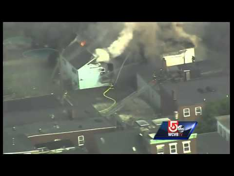 Uncut: Fire rips through East Boston apartment