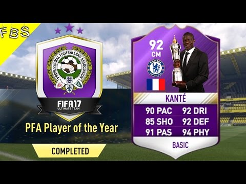 FIFA 17 : *NEW* PFA PLAYER OF THE YEAR *KANTE* *SBC* CHEAPEST METHOD !! *NEW* *POTY KANTE* SBC !!