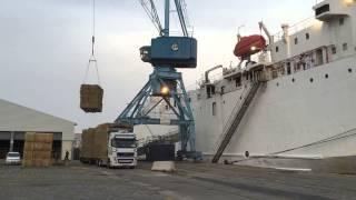 Bovin export paille foin  bateau