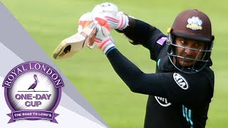 Sangakkara Scores His 100th Hundred - Yorkshire v Surrey: Royal London One-Day Cup QF 2017