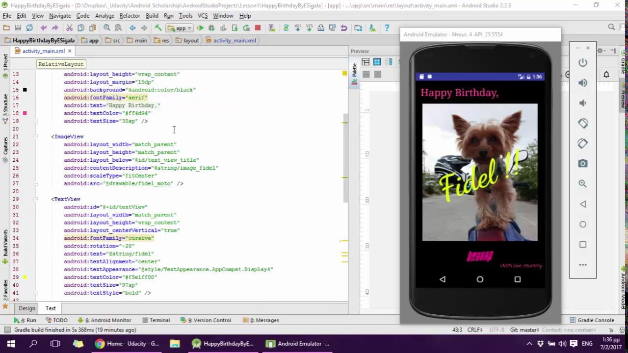 Android App Birthday Card YouTube – Birthday Card App