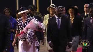 Vice President receives the Queen of Denmark