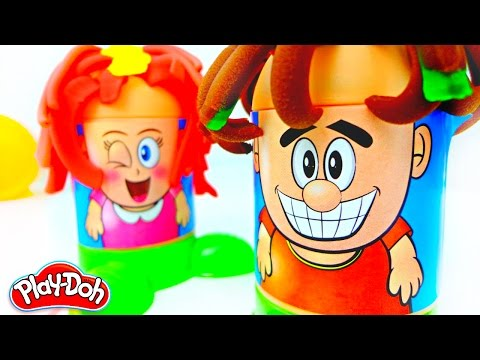 Playing with plasticine PLAY DOH! HAIRSTYLES! Videos for children.