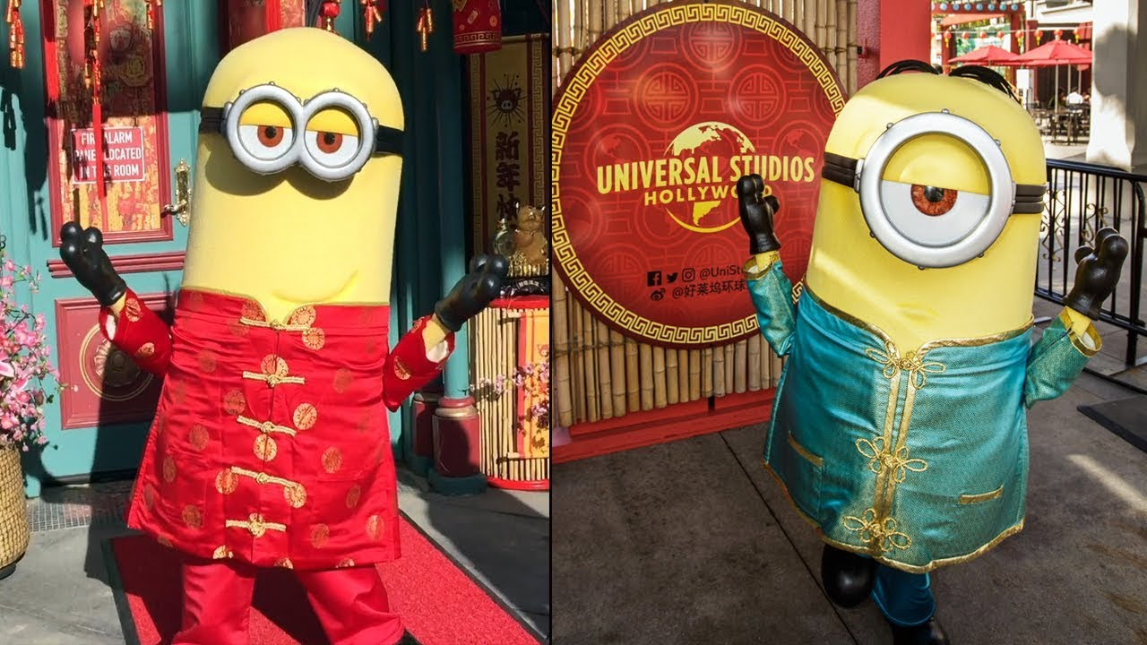 Lunar New Year Character Montage Event Overview At Universal Hollywood 2019 W Minions Megatron Youtube