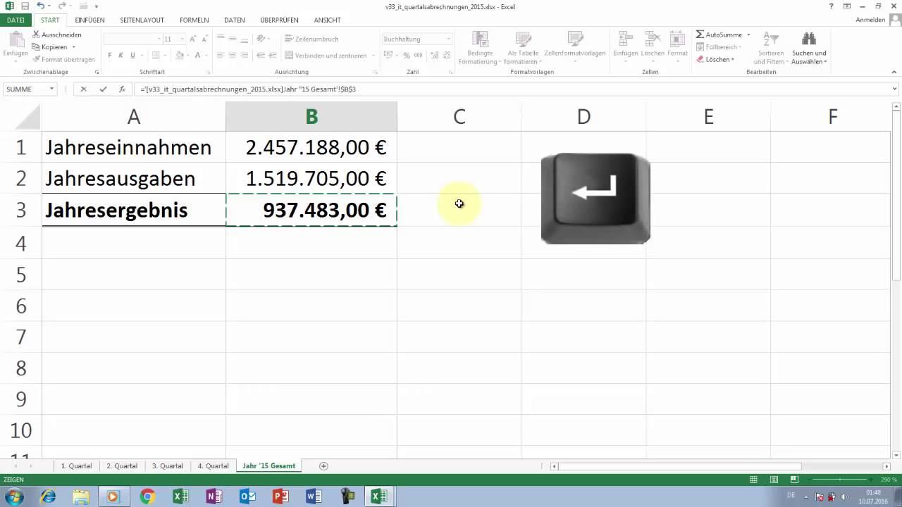 Excel Tipps Und Tricks 33 Bezug Zu Mappen Bzw Tabellenblätter