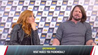 Smyths Toys Q&A with AJ Styles & Becky Lynch (Short Version)