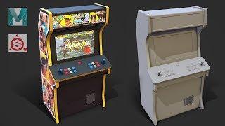 Autodesk Maya 2019, Substance Painter - Stylized Arcade Cabinet