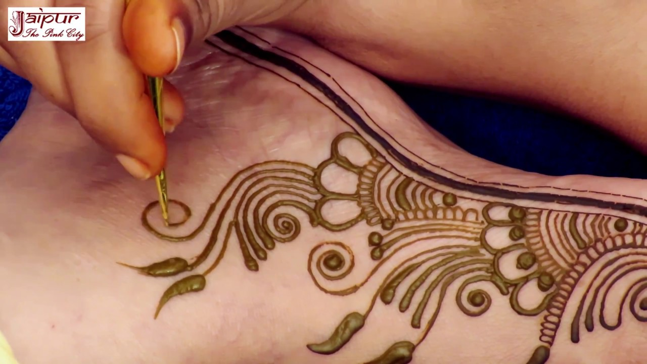 Floral Mehndi Design For Legs Step By Step Designer Henna Mehendi