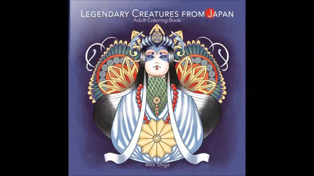 Legendary Creatures From Japan Adult Coloring Book Preview