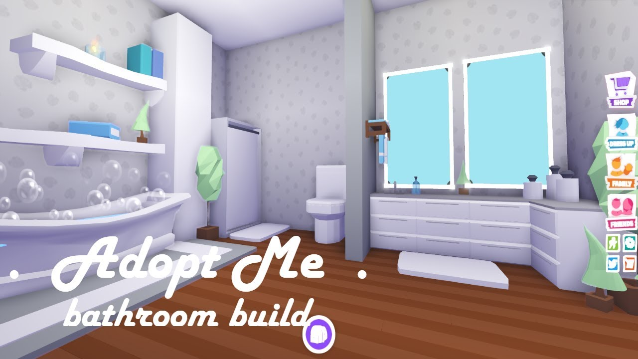 Bathroom Build Adopt Me Build Hacks Youtube