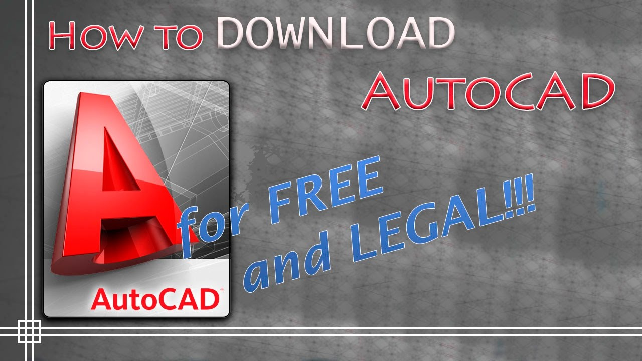 How To Legally Download And Install Autocad For Free