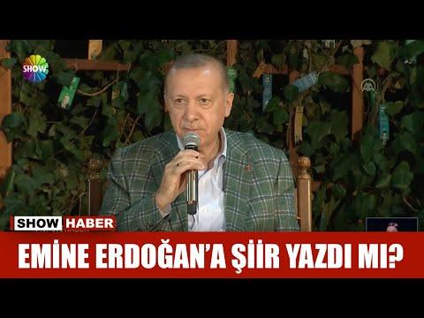 Emine Erdoğan'a şiir yazdı mı?