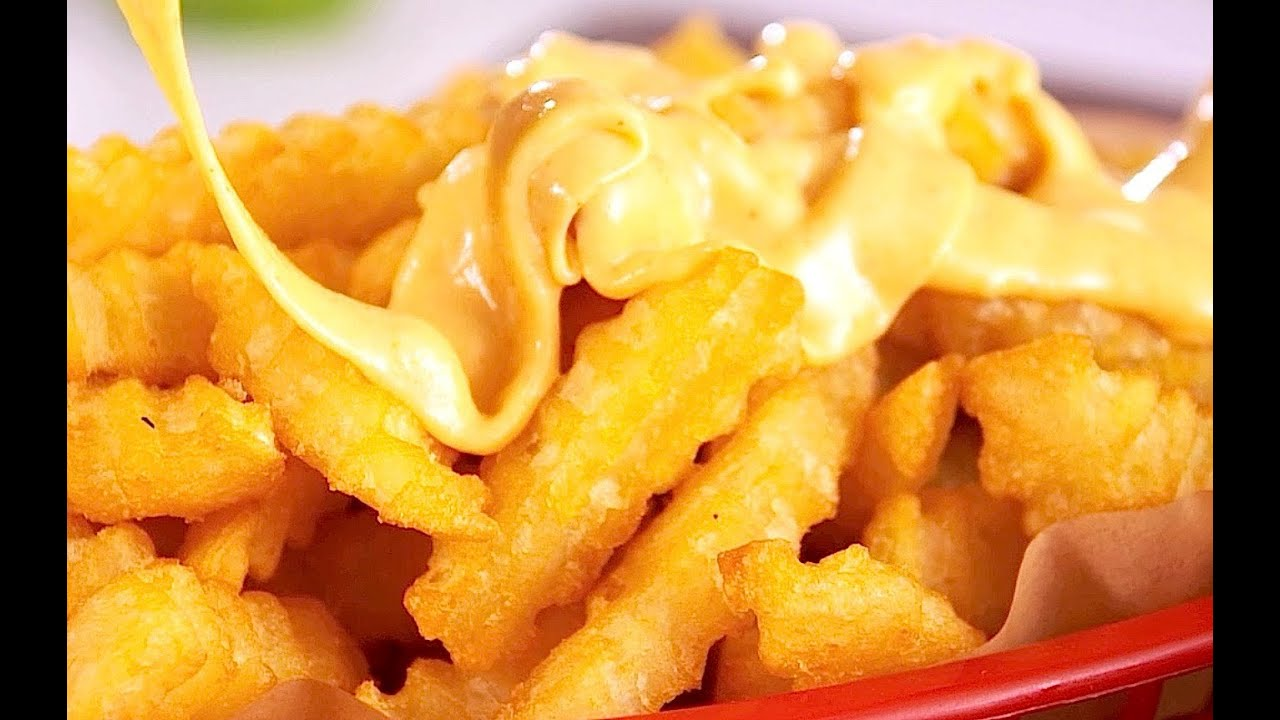 How to Make Nathan's Cheese Fries - YouTube