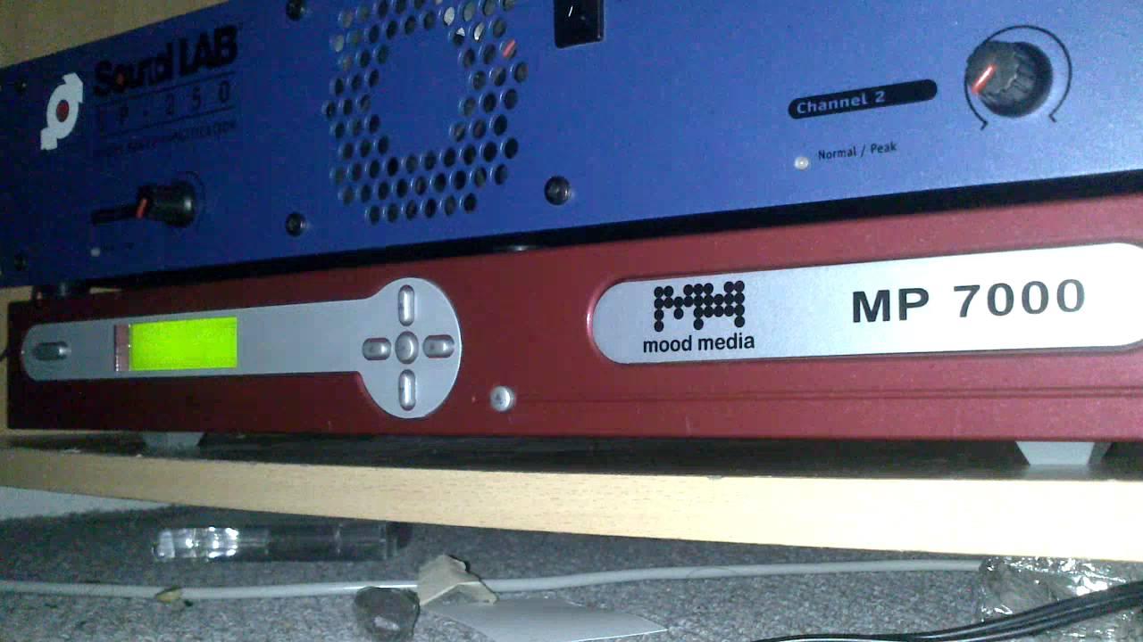 Music playing- Mood Media MP7000