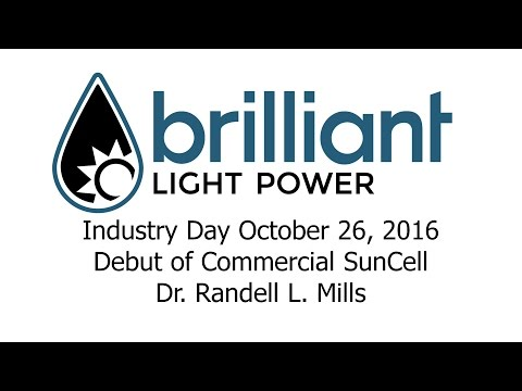 Brilliant Light Power's October 26, 2016 Industry Day Part 3 of 7