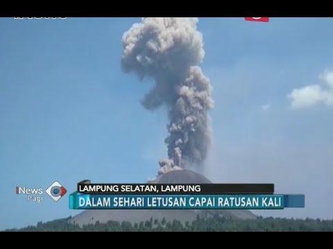 Meletus Ratusan Kali, Gunung Anak Krakatau Berstatus Waspada  iNews Pagi 1307