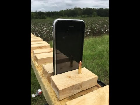 Can an iPhone Stop a .22 Caliber Bullet?
