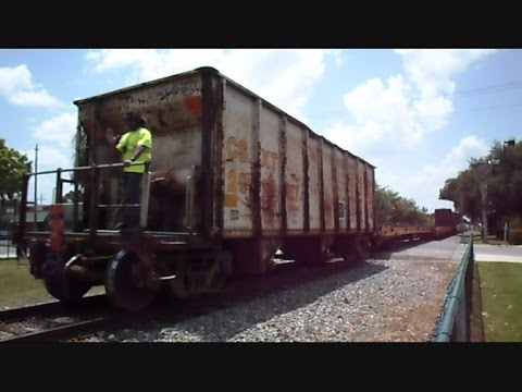 CSX Local Train In Reverse Conductor Rides On Back - YouTube