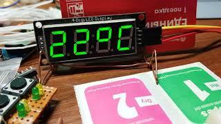 Часы на TM1637 и DS1302 с будильником.