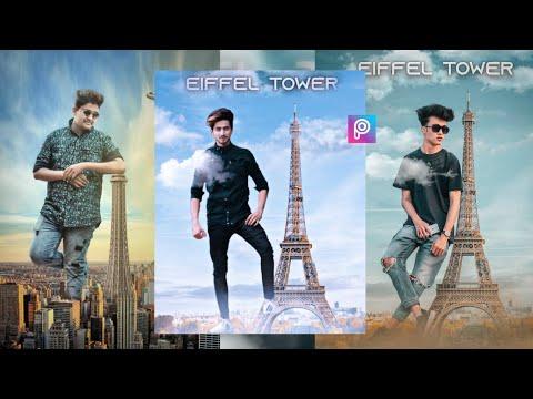 Instagram trends photo editing  picsart Eiffel Tower photo editing tutorial  picsart editing
