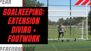 Goalkeeper Training: Extension Diving + Added Footwork