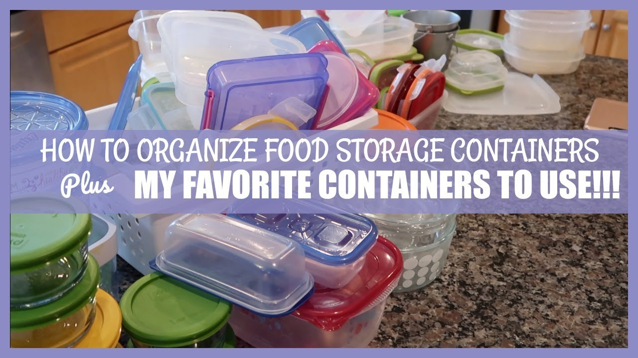 ORGANIZING FOOD CONTAINERS IN THE KITCHEN YouTube