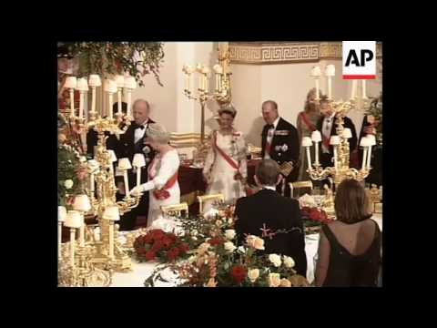 Norwegian royals at Camilla's first banquet as Duchess