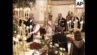 Norwegian royals at Camilla's first banquet as Duchess