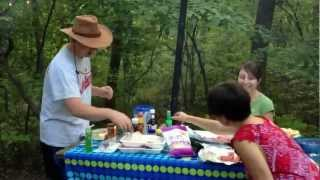 Joe Shows Us How To Make Hobo Stew At The Campsite.