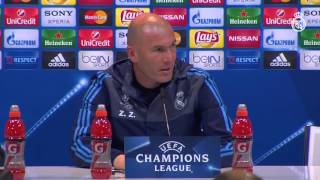 Zidane dio sus impresiones del partido ante el Manchester City