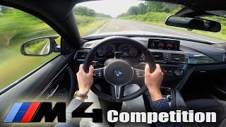 BMW M4 COMPETITION Autobahn TOP SPEED Launch Control Acceleration POV Test Drive & Sound