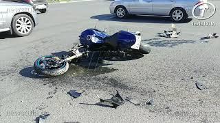 На Красноармейском проспекте в Туле сбили мотоциклиста