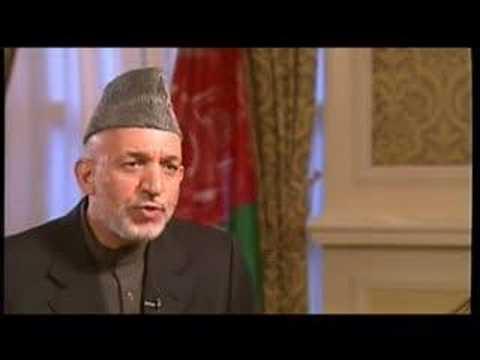 Talk to Jazeera - Hamid Karzai - 25 Sep 07 - Part 1