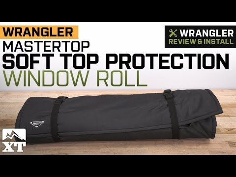 Jeep Wrangler MasterTop Soft Top Protection Window Roll (1987-2018 YJ, TJ,,JK & JL) Review & Install