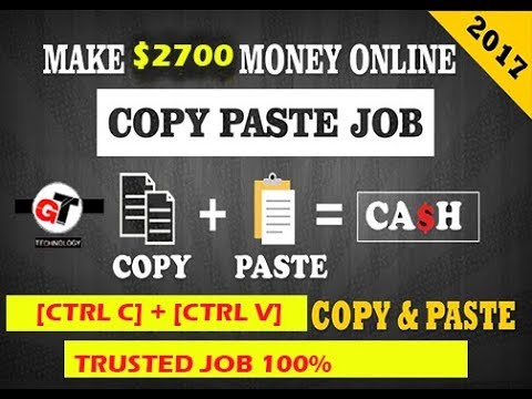 Copy Paste Jobs - Weekly Payouts - Make Money Online doing copy paste work from home part timejobs#1