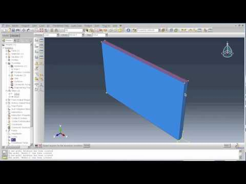 ABAQUS Tutorial - Part 1: Modelling a masonry wall under a blast explosion: This tutorial explains how to model a masonry wall in ABAQUS CAE and apply a blast load  by Khurram Nazir