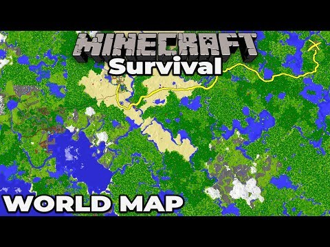 Building A WORLD MAP : Minecraft 1.14 Survival Let's Play Building With FWhip S2
