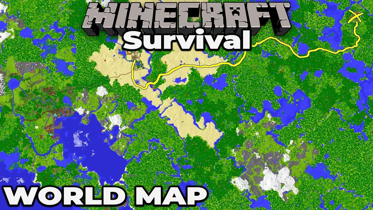 Building a WORLD MAP : Minecraft 1.14 Survival Let\'s Play Building with  fWhip S2