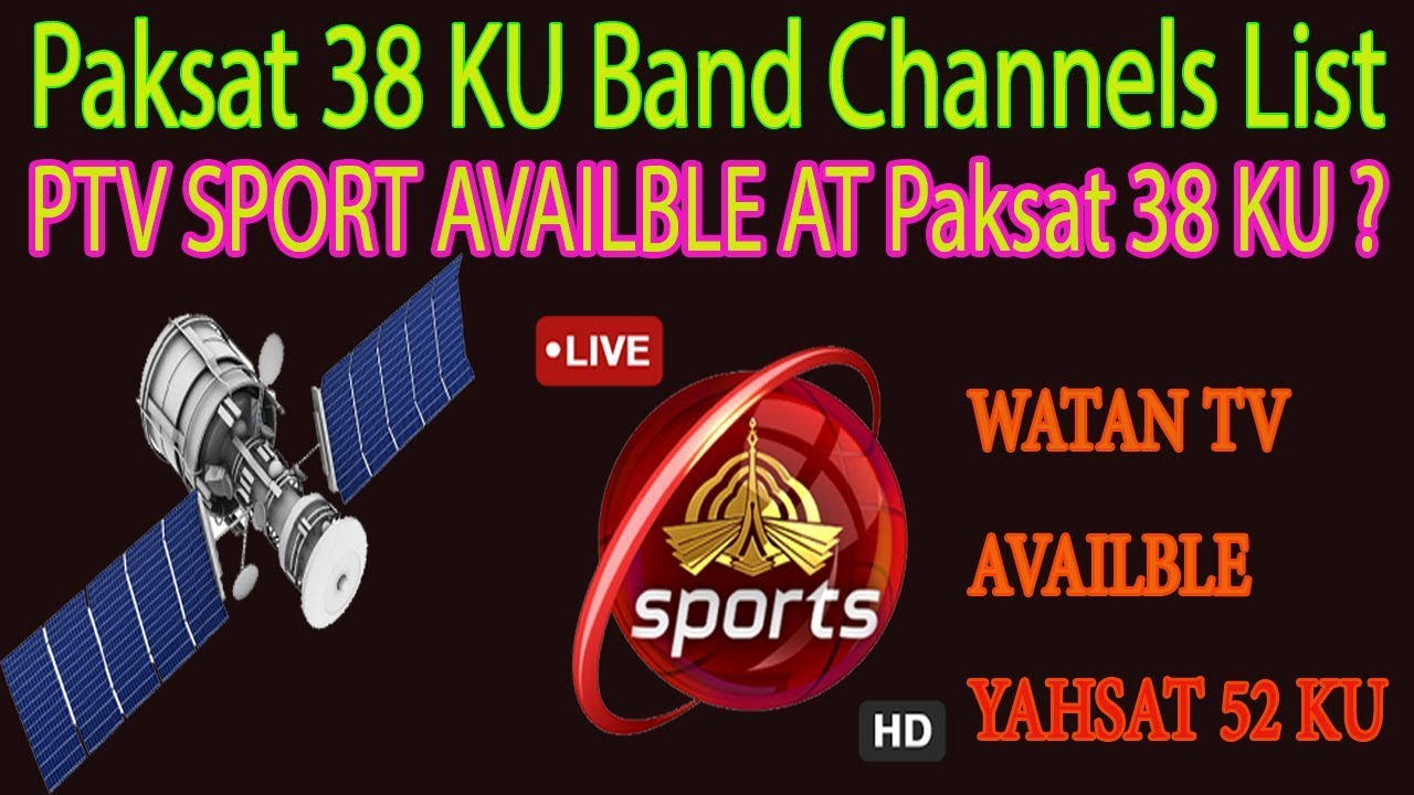 Paksat 38 KU Band Channels LIst 2017 Ptv Sport Availble