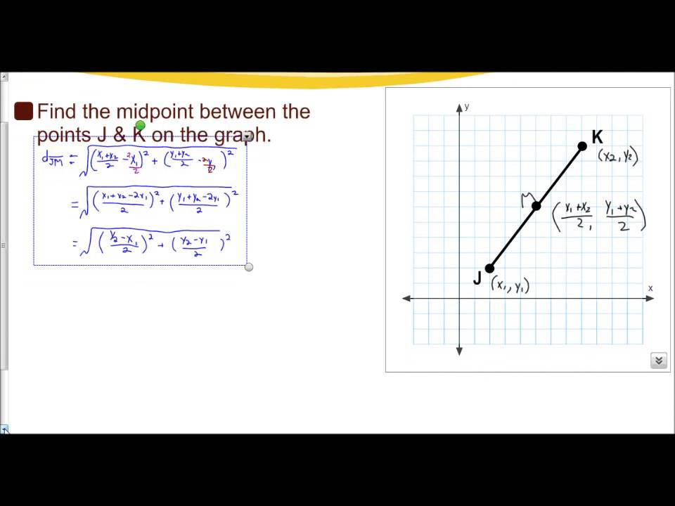 Midpoint Formula (solutions, examples, worksheets, videos)