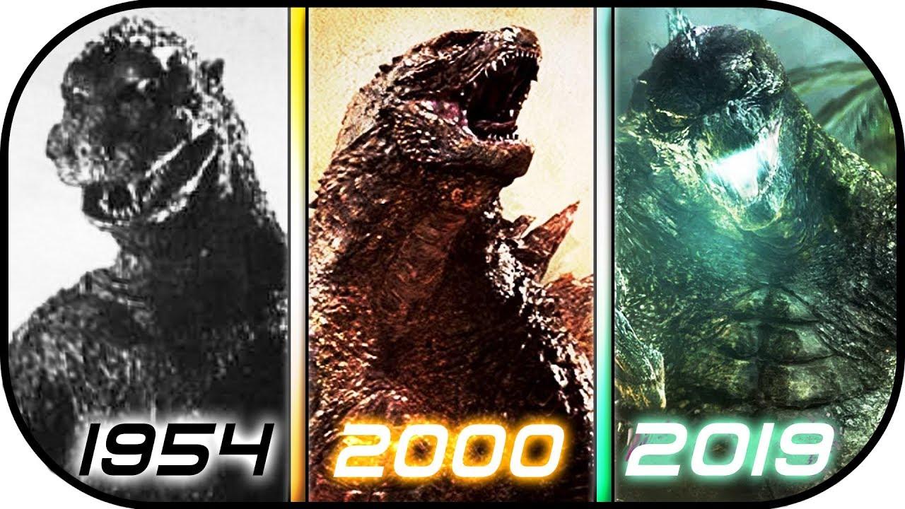 EVOLUTION of GODZILLA in Movies (1954-2019) Godzilla King ...
