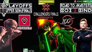 WINNER TO UPPER FINAL! SENTÏNELS vs 100T   BO3 3 Bind   NA Challengers Finals   VODS Valorant Mundi