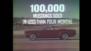 6 Amazing Ford Mustang Commercials from 1965