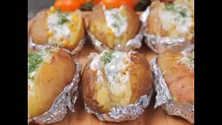 Рецепт запеченного целого картофеля с начинкой а-ля кумпир