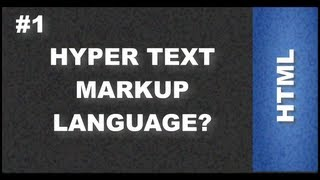 HTML Web Design Tutorials - Introduction to HTML Hyper Text Markup Language Lesson 1