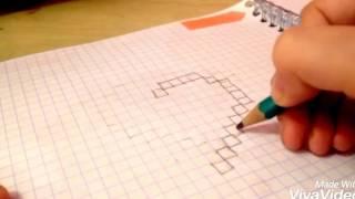 Видеоурок как нарисовать сердечко по клеточкам