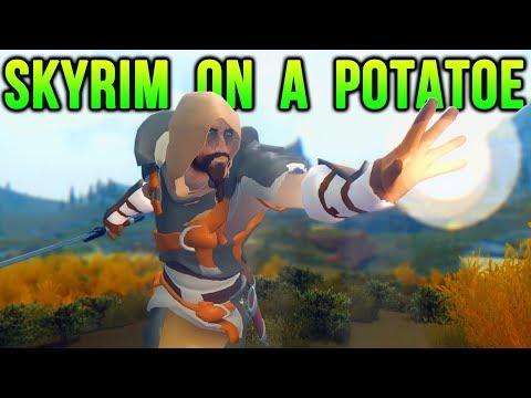 Skyrim... With No Textures (Graphics Mods).