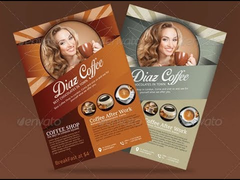 How to Design a Exclusive Coffee Shop Brochure In Corel Draw