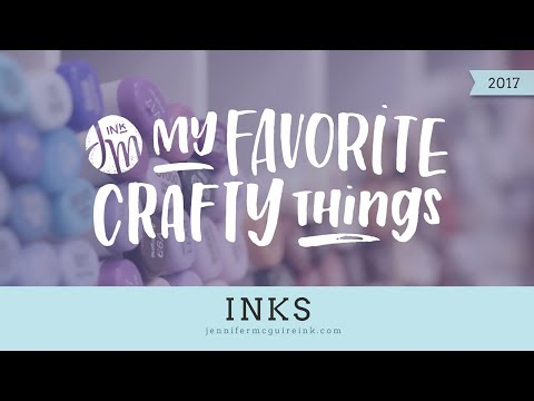 My Favorite Crafty Things 2017 -- Inks (Updated!)